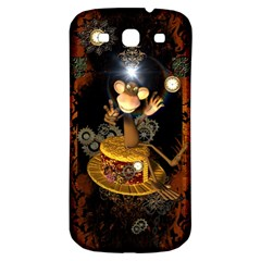 Steampunk, Funny Monkey With Clocks And Gears Samsung Galaxy S3 S Iii Classic Hardshell Back Case