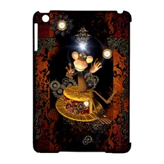 Steampunk, Funny Monkey With Clocks And Gears Apple iPad Mini Hardshell Case (Compatible with Smart Cover)
