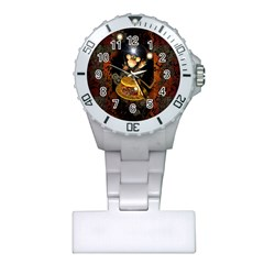 Steampunk, Funny Monkey With Clocks And Gears Nurses Watches