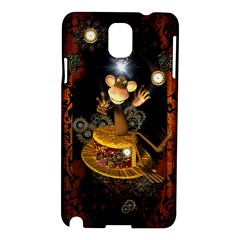 Steampunk, Funny Monkey With Clocks And Gears Samsung Galaxy Note 3 N9005 Hardshell Case