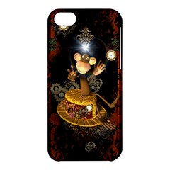 Steampunk, Funny Monkey With Clocks And Gears Apple iPhone 5C Hardshell Case