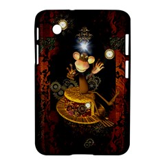 Steampunk, Funny Monkey With Clocks And Gears Samsung Galaxy Tab 2 (7 ) P3100 Hardshell Case