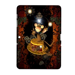 Steampunk, Funny Monkey With Clocks And Gears Samsung Galaxy Tab 2 (10.1 ) P5100 Hardshell Case