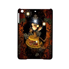 Steampunk, Funny Monkey With Clocks And Gears iPad Mini 2 Hardshell Cases