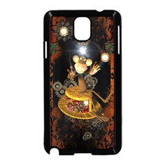 Steampunk, Funny Monkey With Clocks And Gears Samsung Galaxy Note 3 Neo Hardshell Case (black)