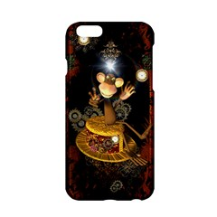 Steampunk, Funny Monkey With Clocks And Gears Apple iPhone 6/6S Hardshell Case