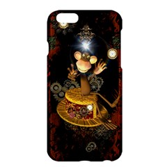 Steampunk, Funny Monkey With Clocks And Gears Apple iPhone 6 Plus/6S Plus Hardshell Case