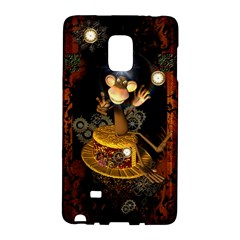 Steampunk, Funny Monkey With Clocks And Gears Galaxy Note Edge