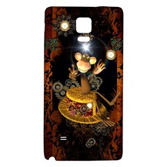 Steampunk, Funny Monkey With Clocks And Gears Galaxy Note 4 Back Case