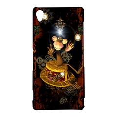 Steampunk, Funny Monkey With Clocks And Gears Sony Xperia Z3