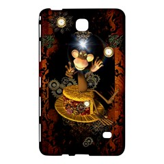 Steampunk, Funny Monkey With Clocks And Gears Samsung Galaxy Tab 4 (8 ) Hardshell Case