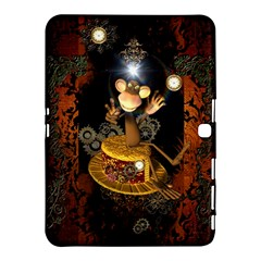 Steampunk, Funny Monkey With Clocks And Gears Samsung Galaxy Tab 4 (10 1 ) Hardshell Case