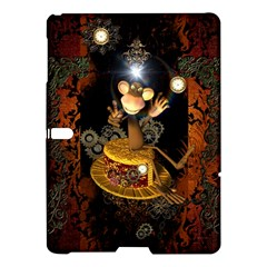 Steampunk, Funny Monkey With Clocks And Gears Samsung Galaxy Tab S (10 5 ) Hardshell Case