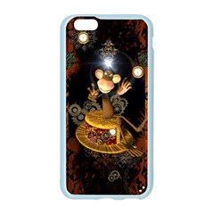 Steampunk, Funny Monkey With Clocks And Gears Apple Seamless iPhone 6/6S Case (Color)