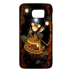 Steampunk, Funny Monkey With Clocks And Gears Galaxy S6