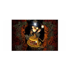 Steampunk, Funny Monkey With Clocks And Gears Satin Wrap