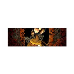 Steampunk, Funny Monkey With Clocks And Gears Satin Scarf (oblong)