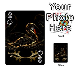 Wonderful Swan In Gold And Black With Floral Elements Playing Cards 54 Designs