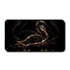 Wonderful Swan In Gold And Black With Floral Elements Medium Bar Mats