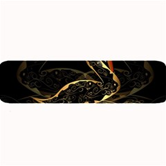 Wonderful Swan In Gold And Black With Floral Elements Large Bar Mats