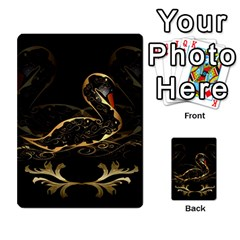 Wonderful Swan In Gold And Black With Floral Elements Multi-purpose Cards (Rectangle)