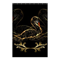 Wonderful Swan In Gold And Black With Floral Elements Shower Curtain 48  X 72  (small)