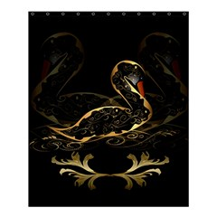 Wonderful Swan In Gold And Black With Floral Elements Shower Curtain 60  X 72  (medium)