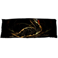 Wonderful Swan In Gold And Black With Floral Elements Body Pillow Cases Dakimakura (two Sides)