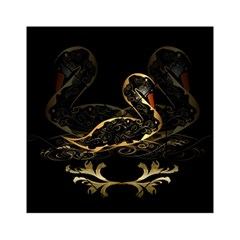 Wonderful Swan In Gold And Black With Floral Elements Acrylic Tangram Puzzle (6  X 6 )