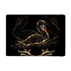 Wonderful Swan In Gold And Black With Floral Elements Apple iPad Mini Flip Case
