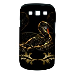 Wonderful Swan In Gold And Black With Floral Elements Samsung Galaxy S III Classic Hardshell Case (PC+Silicone)