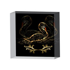 Wonderful Swan In Gold And Black With Floral Elements 4 x 4  Acrylic Photo Blocks