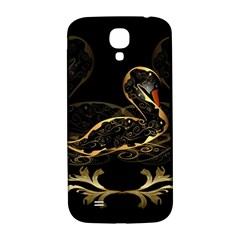 Wonderful Swan In Gold And Black With Floral Elements Samsung Galaxy S4 I9500/I9505  Hardshell Back Case