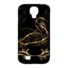 Wonderful Swan In Gold And Black With Floral Elements Samsung Galaxy S4 Classic Hardshell Case (PC+Silicone)