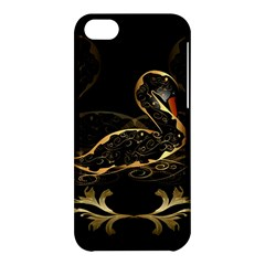 Wonderful Swan In Gold And Black With Floral Elements Apple iPhone 5C Hardshell Case