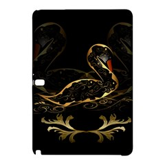 Wonderful Swan In Gold And Black With Floral Elements Samsung Galaxy Tab Pro 12.2 Hardshell Case