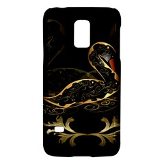 Wonderful Swan In Gold And Black With Floral Elements Galaxy S5 Mini