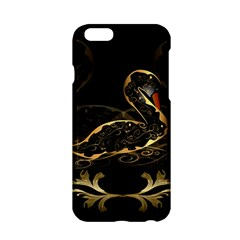 Wonderful Swan In Gold And Black With Floral Elements Apple iPhone 6/6S Hardshell Case