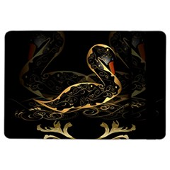 Wonderful Swan In Gold And Black With Floral Elements iPad Air 2 Flip