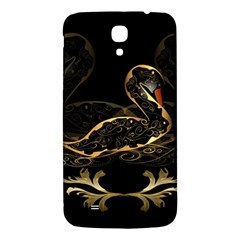 Wonderful Swan In Gold And Black With Floral Elements Samsung Galaxy Mega I9200 Hardshell Back Case