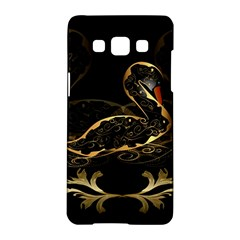 Wonderful Swan In Gold And Black With Floral Elements Samsung Galaxy A5 Hardshell Case