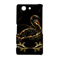 Wonderful Swan In Gold And Black With Floral Elements Sony Xperia Z3 Compact