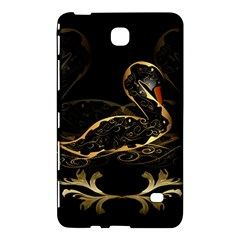 Wonderful Swan In Gold And Black With Floral Elements Samsung Galaxy Tab 4 (7 ) Hardshell Case