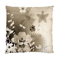 Vintage, Wonderful Flowers With Dragonflies Standard Cushion Case (One Side)