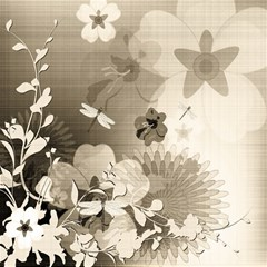 Vintage, Wonderful Flowers With Dragonflies Magic Photo Cubes