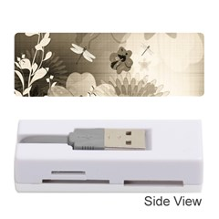 Vintage, Wonderful Flowers With Dragonflies Memory Card Reader (Stick)
