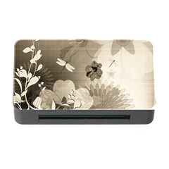 Vintage, Wonderful Flowers With Dragonflies Memory Card Reader with CF