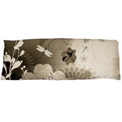 Vintage, Wonderful Flowers With Dragonflies Body Pillow Cases (dakimakura)
