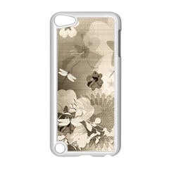 Vintage, Wonderful Flowers With Dragonflies Apple iPod Touch 5 Case (White)