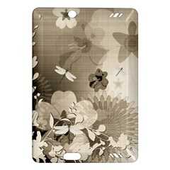 Vintage, Wonderful Flowers With Dragonflies Kindle Fire HD (2013) Hardshell Case